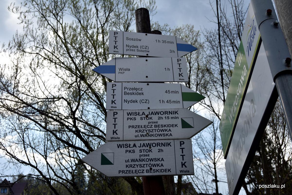 Szlak turystyczny – Wisła Jawornik – przełęcz Beskidek